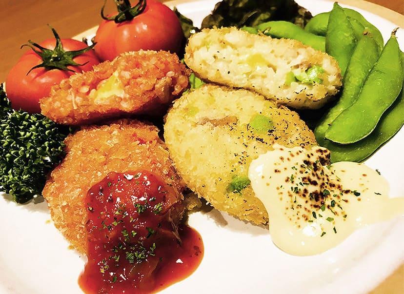 リゾットコロッケセット (トマトリゾット / 枝豆リゾット)