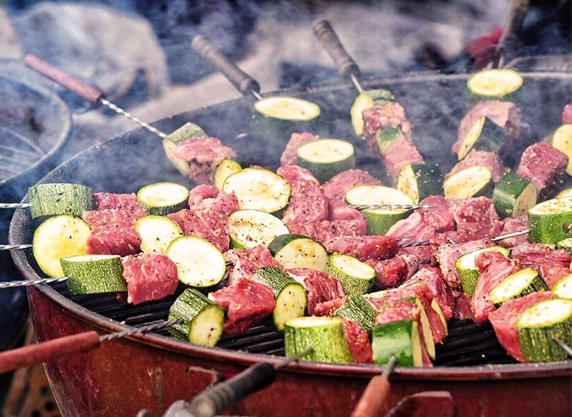 「甚右衛門」夏野菜と牛カイノミのスキュア